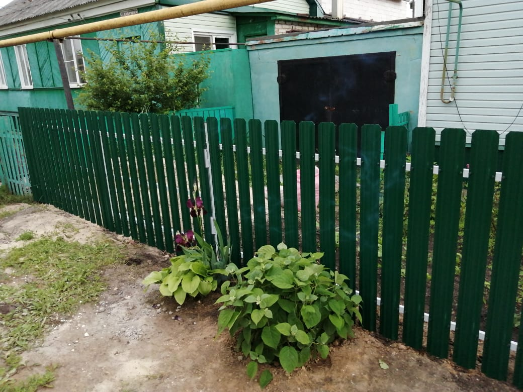 Комбинированный забор 25м штакетник и профлист, ворота, калитка фото8