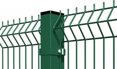 Забор из 3д панелей сетки гиттер c металлическими столбами