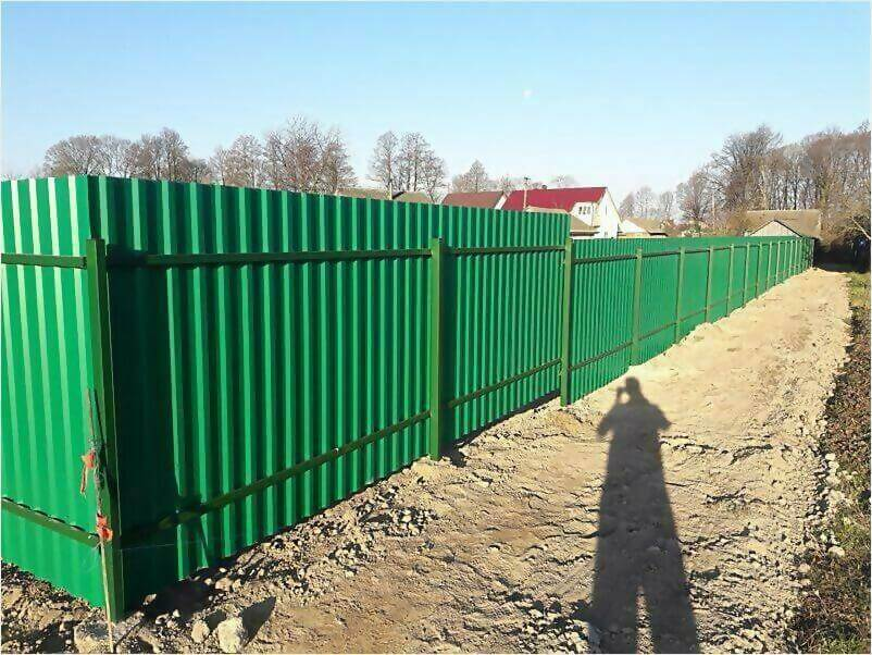 Забор, ворота, калитка из зеленого профлиста 150м фото 7
