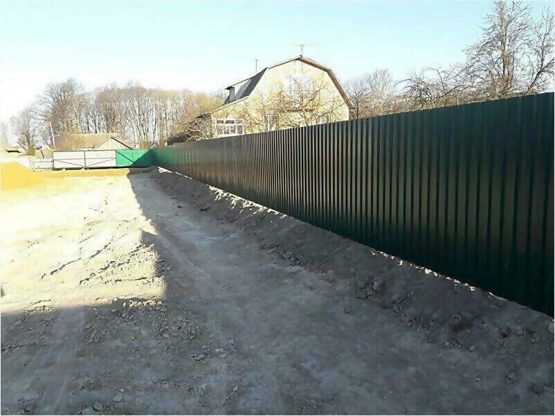 Забор, ворота, калитка из зеленого профлиста 150м фото 4
