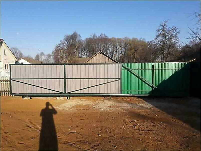 Забор, ворота, калитка из зеленого профлиста 150м фото 2