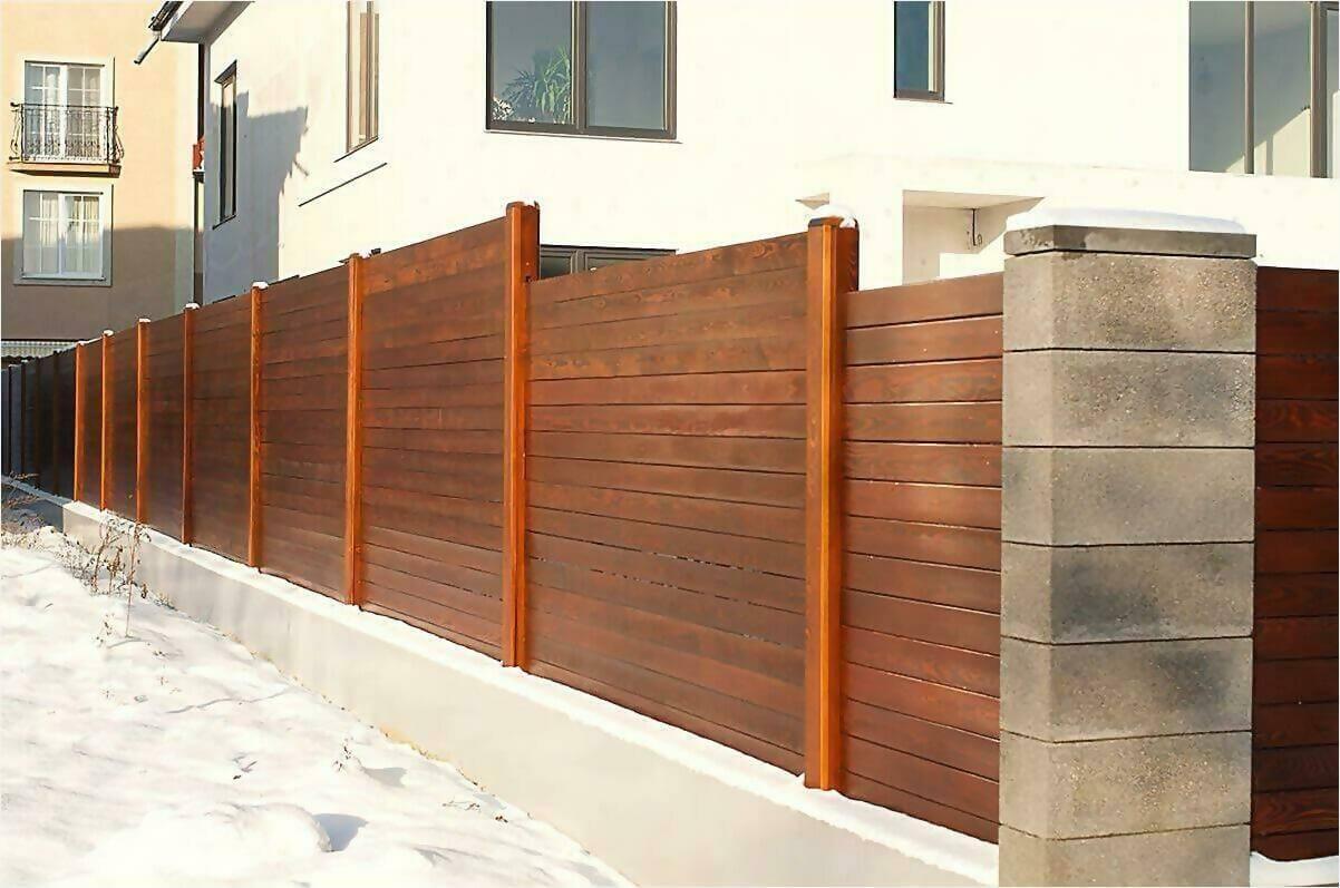 деревянный забор 90м фото4