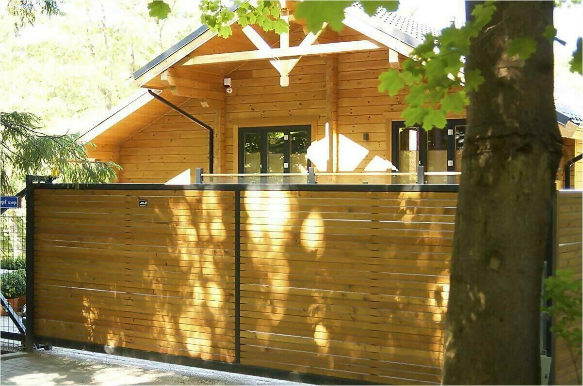 деревянный забор фото2