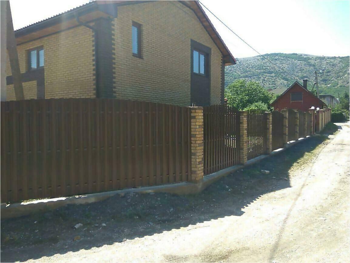 забор из штакетника 110м фото7