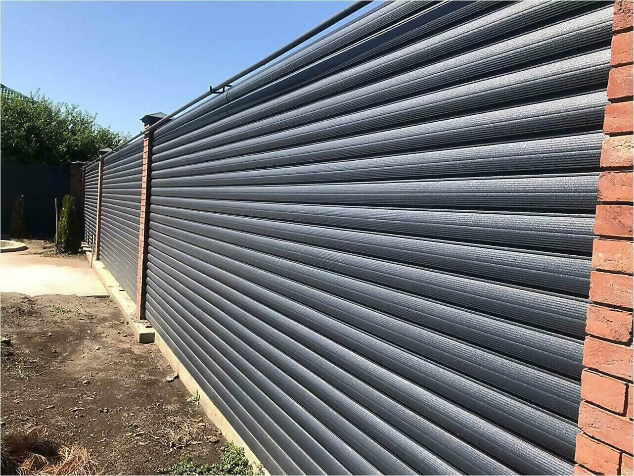 Забор из штакетника 115м фото1