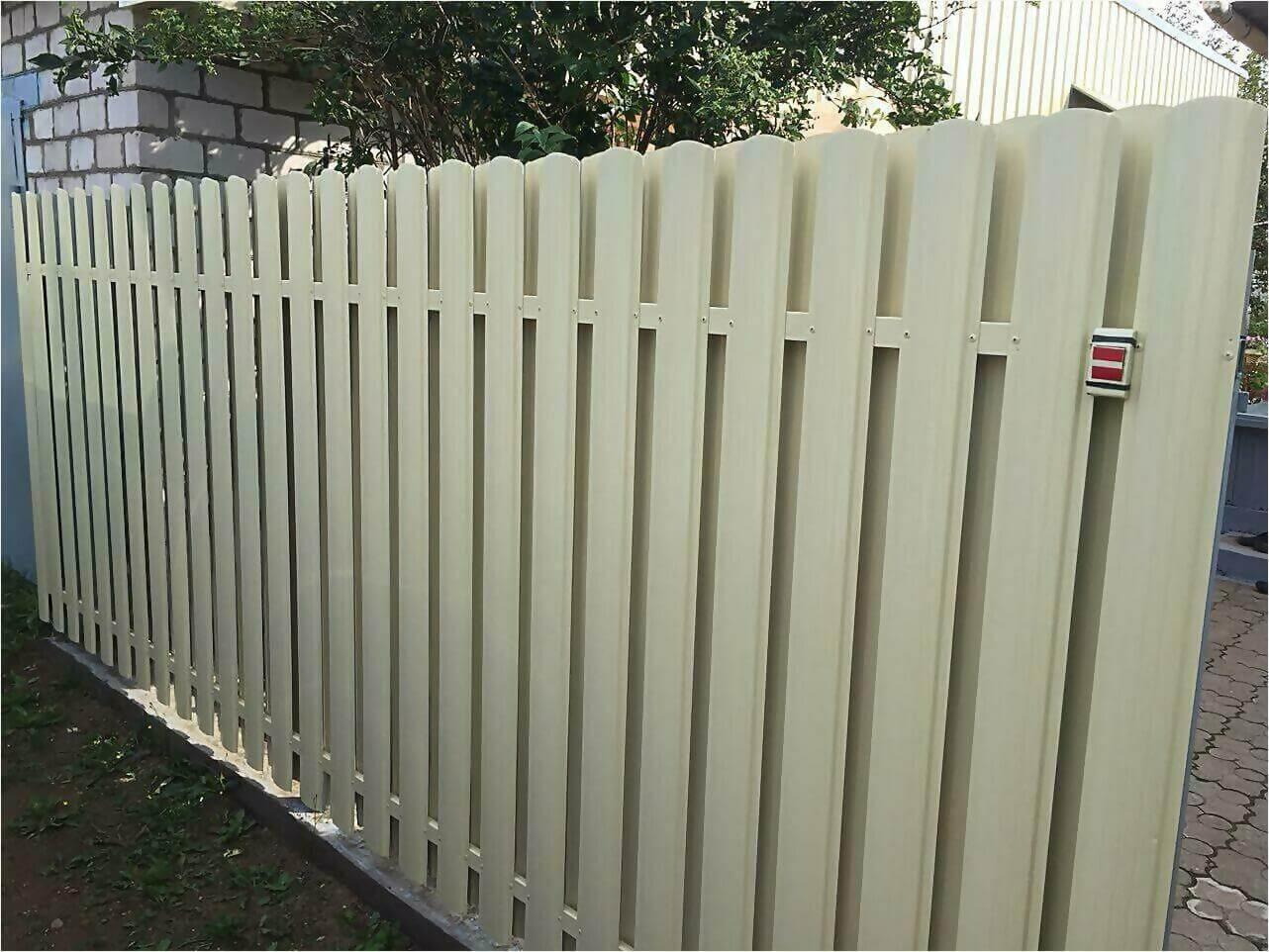 Забор из штакетника 65м фото2