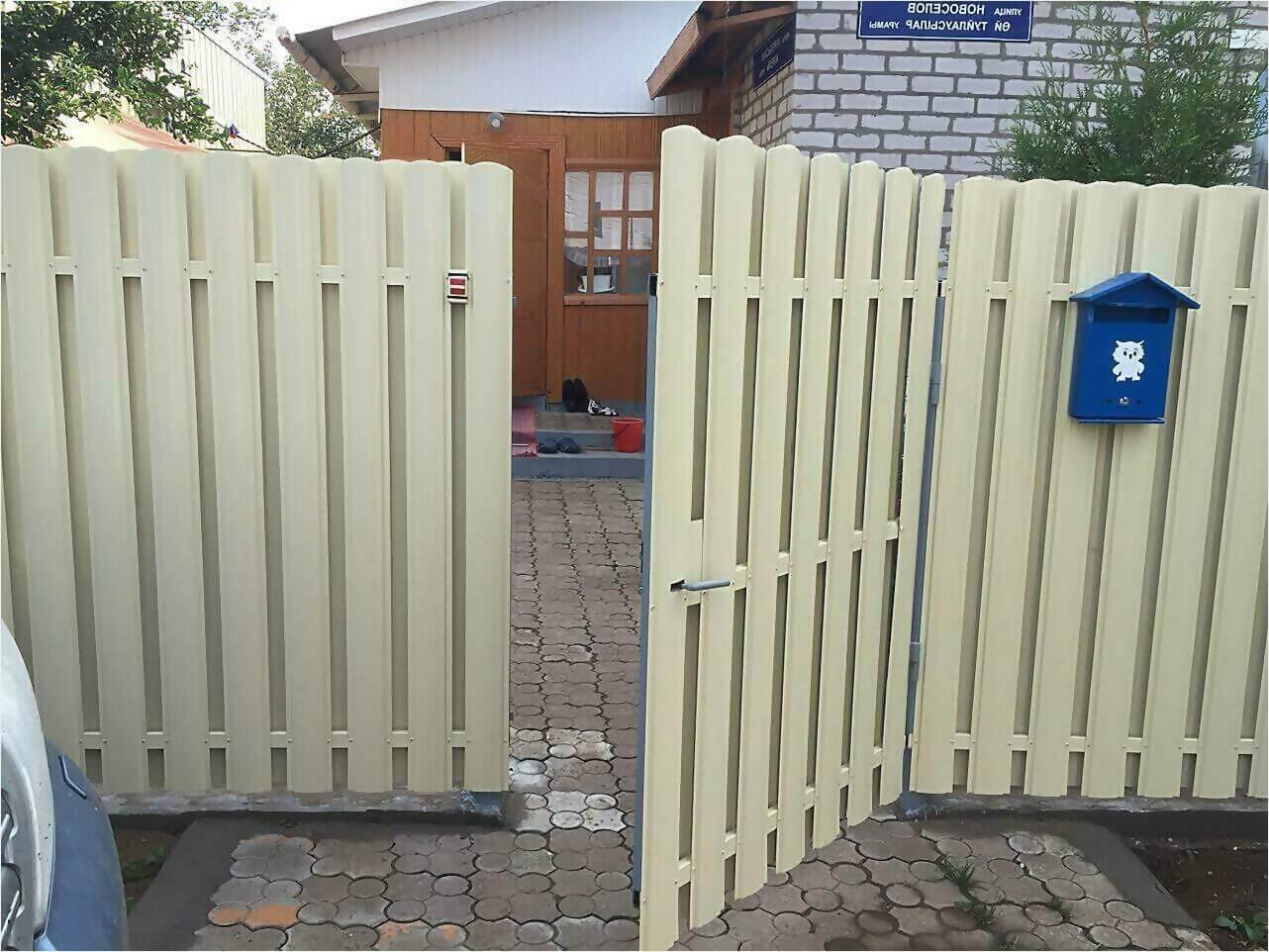 Забор из штакетника 65м фото5