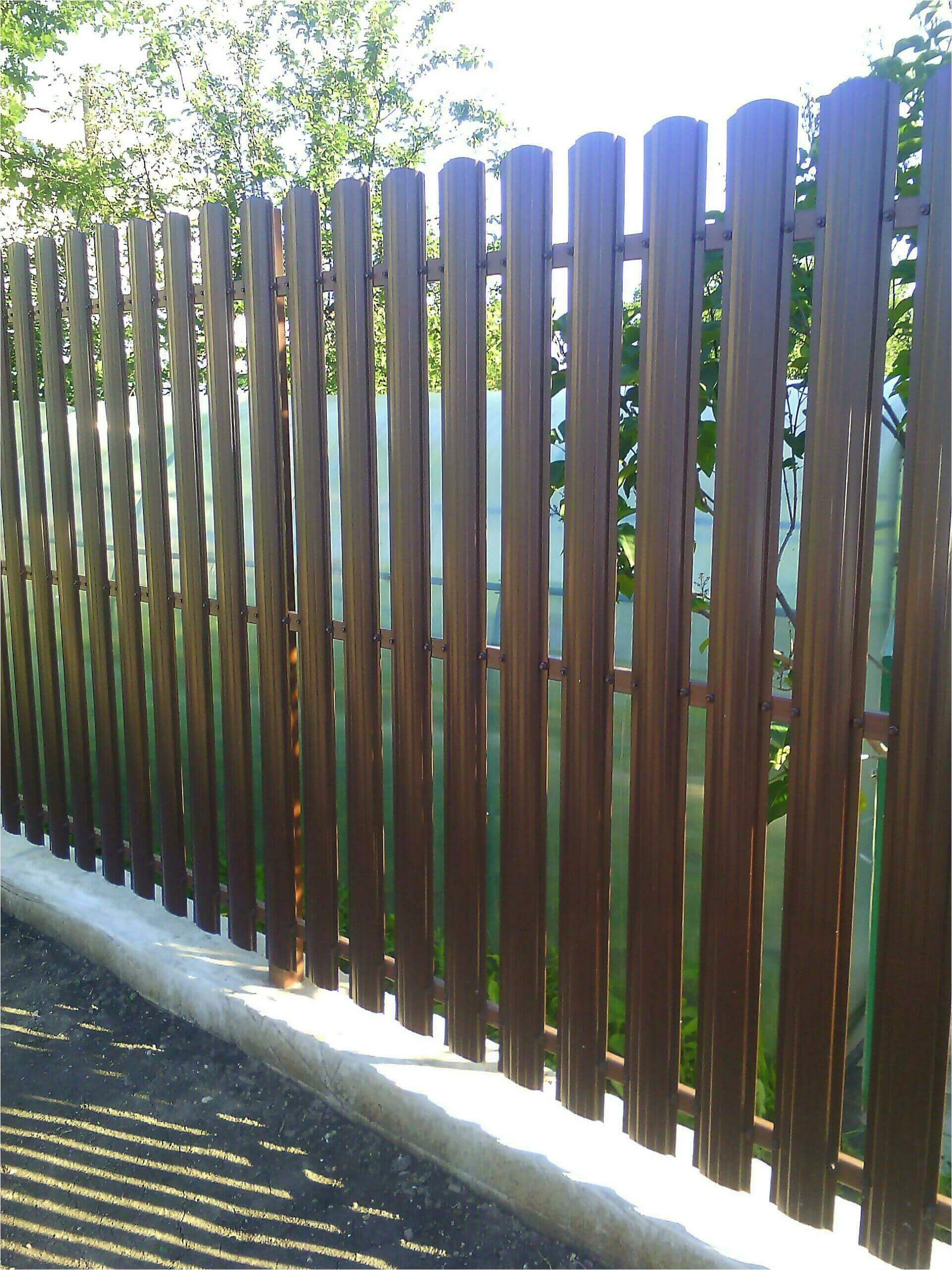 забор из штакетника 75м фото2
