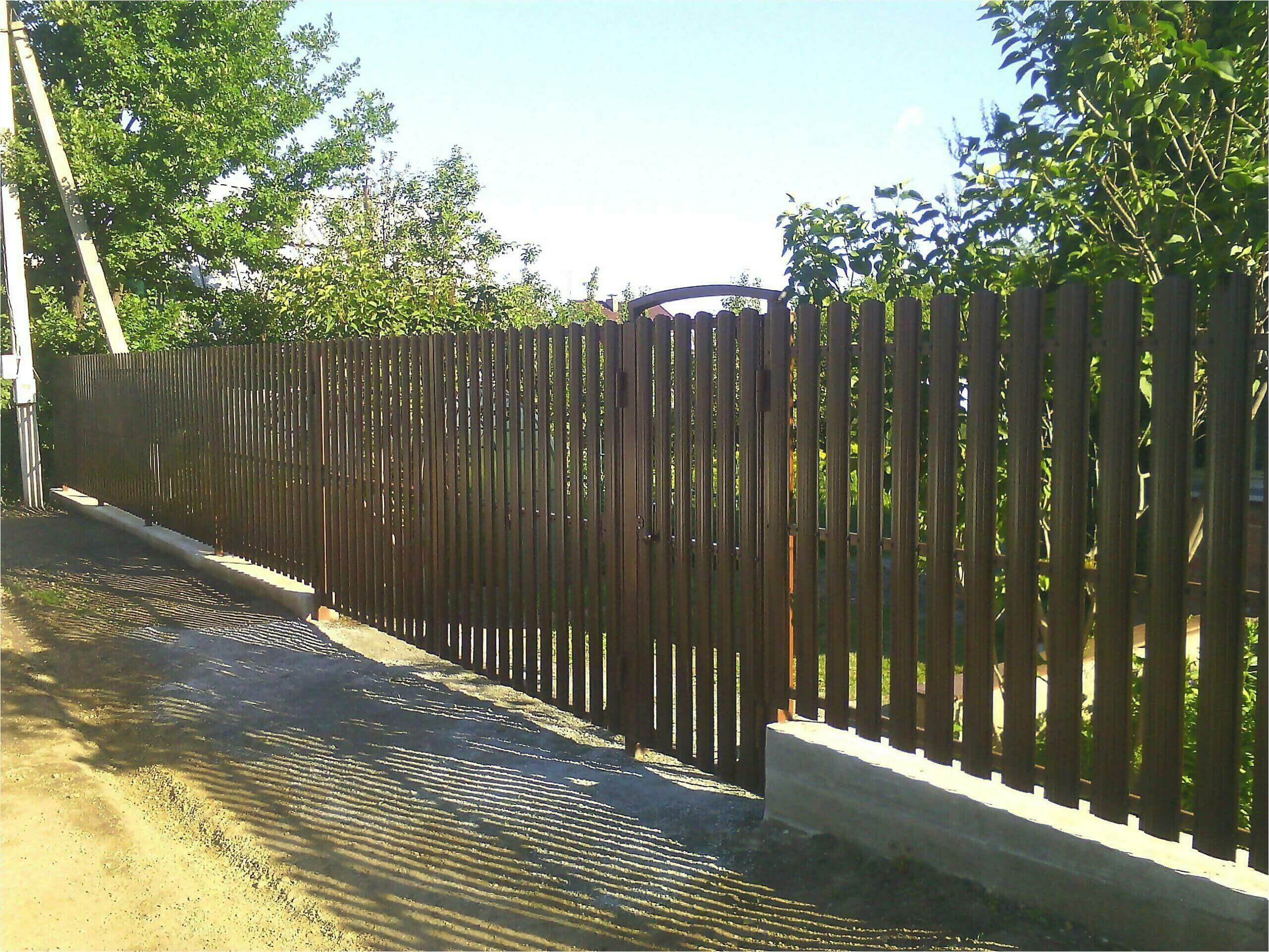 забор из штакетника 75м фото4