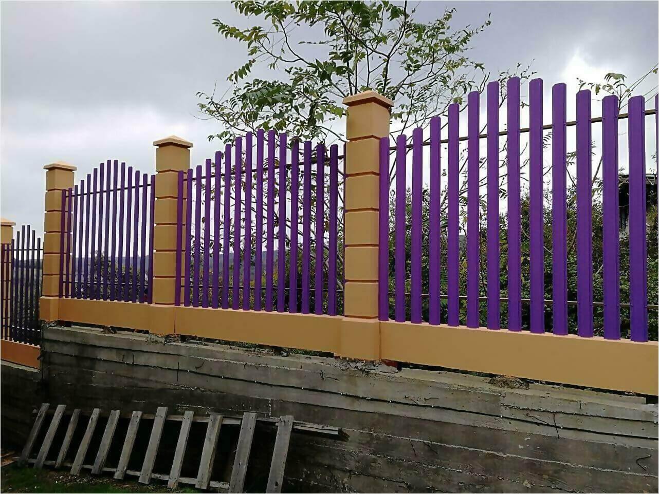 Забор из штакетника 85м фото3