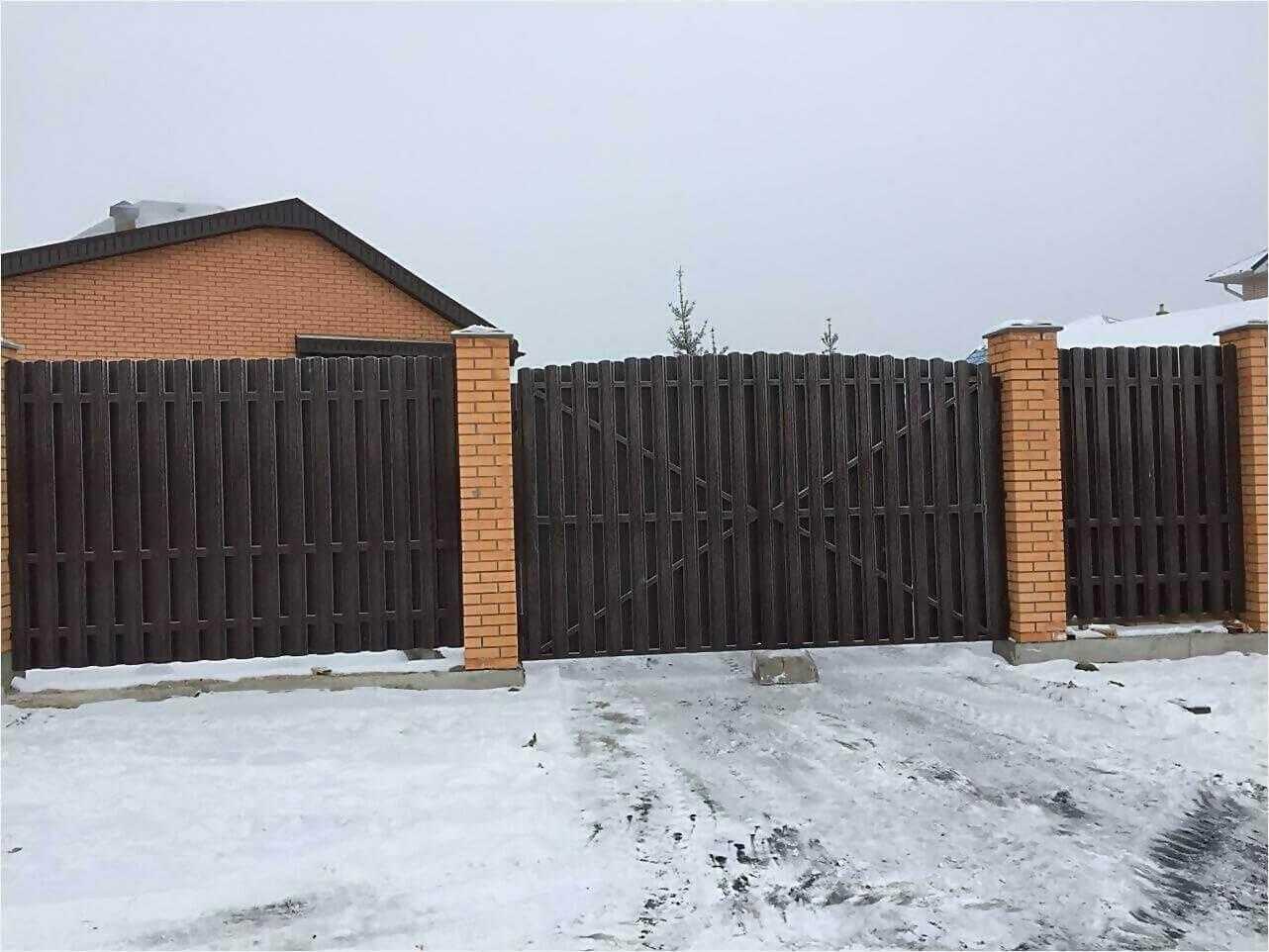 Забор из штакетника 95м фото5