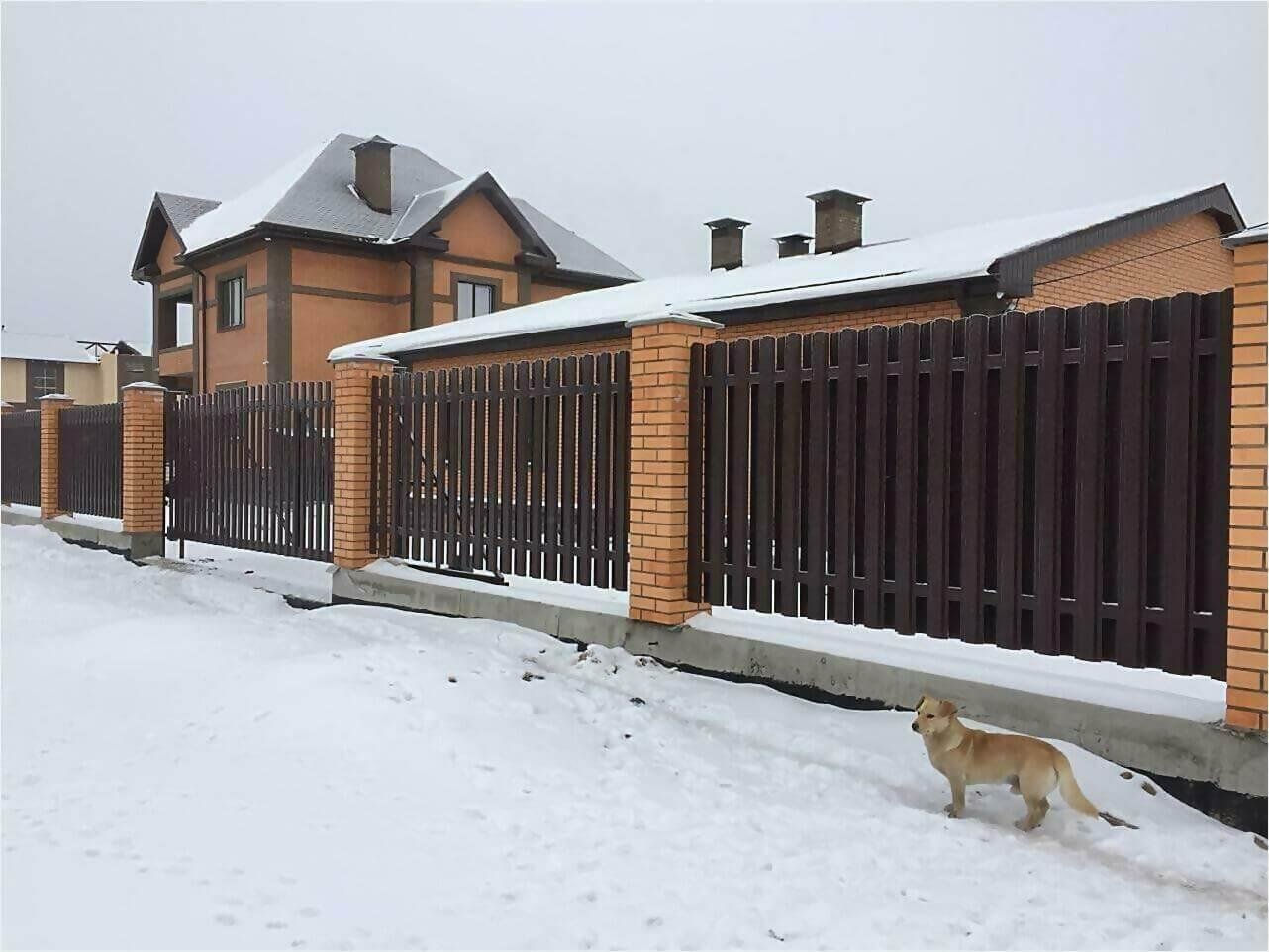 Забор из штакетника 95м фото4