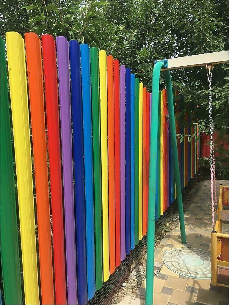 забор из штакетника 25м фото1