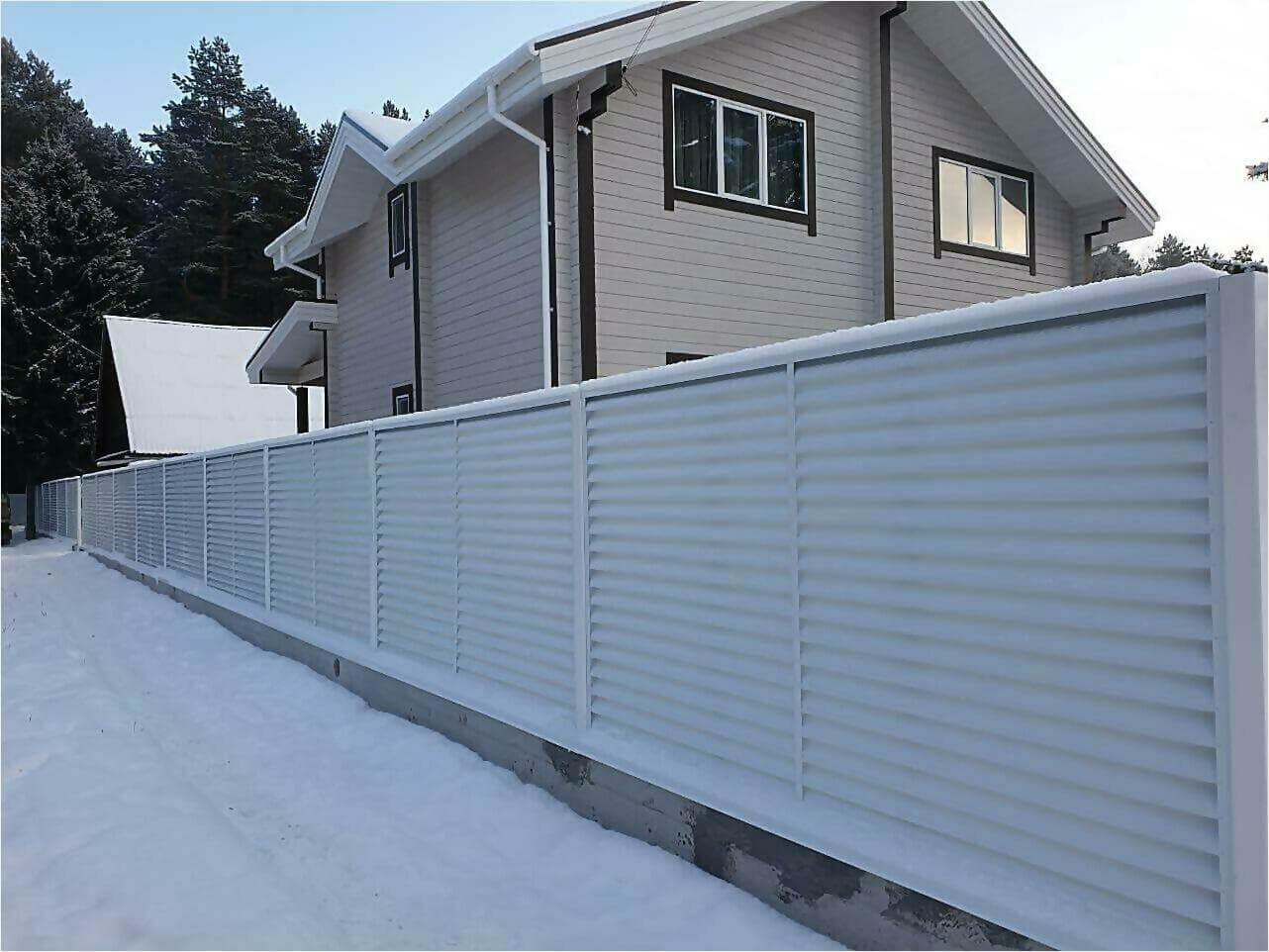 Забор жалюзи 150м RAL9003 фото1