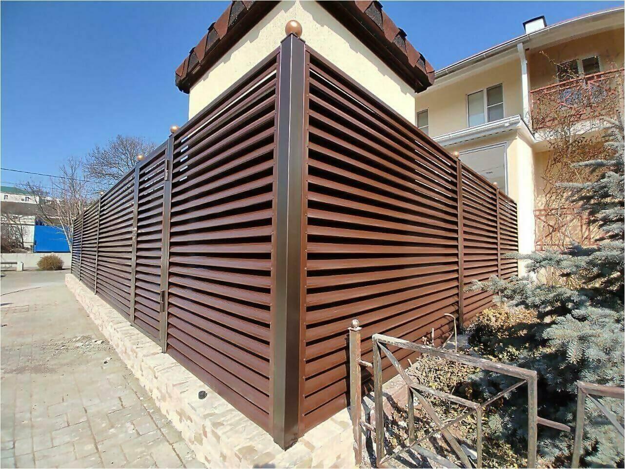 Забор-жалюзи 120м Шоколад фото12
