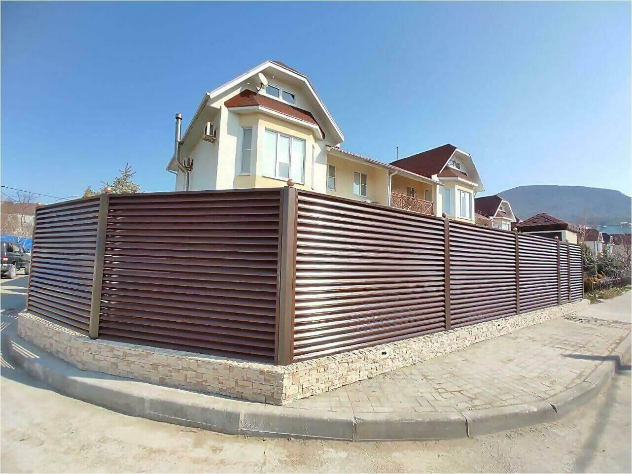 Забор-жалюзи 120м Шоколад фото1