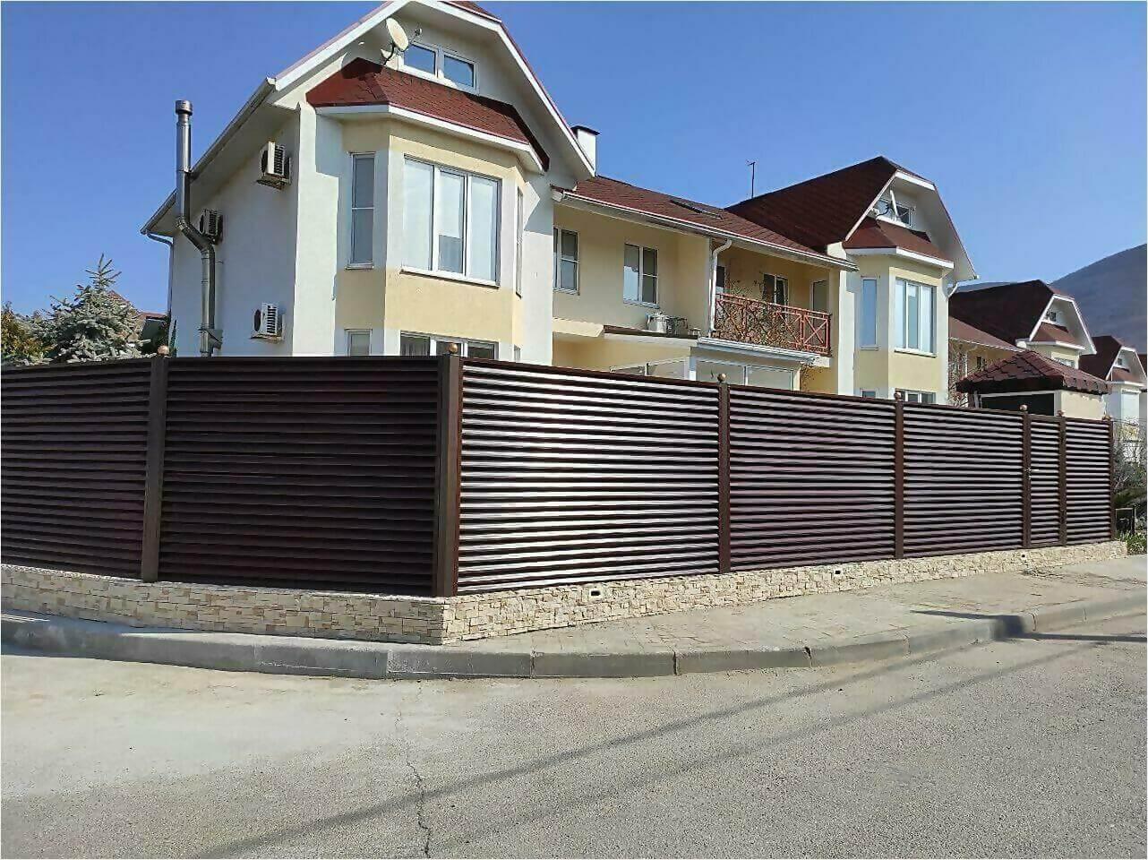 Забор-жалюзи 120м Шоколад фото11