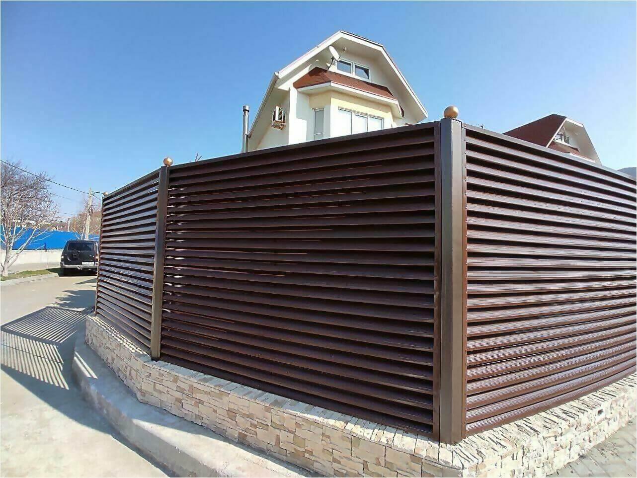 Забор-жалюзи 120м Шоколад фото6