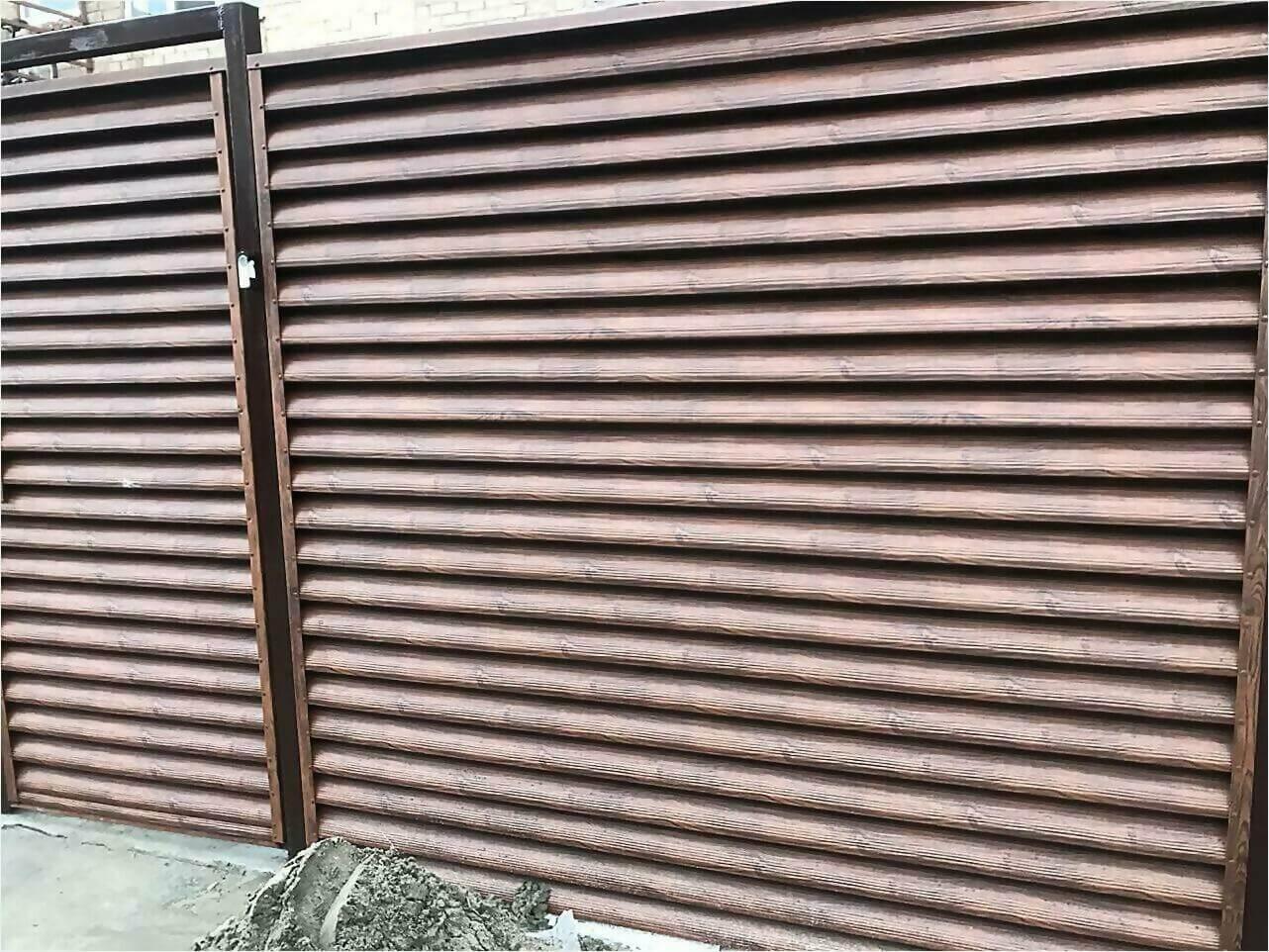 забор-жалюзи каштан фото2