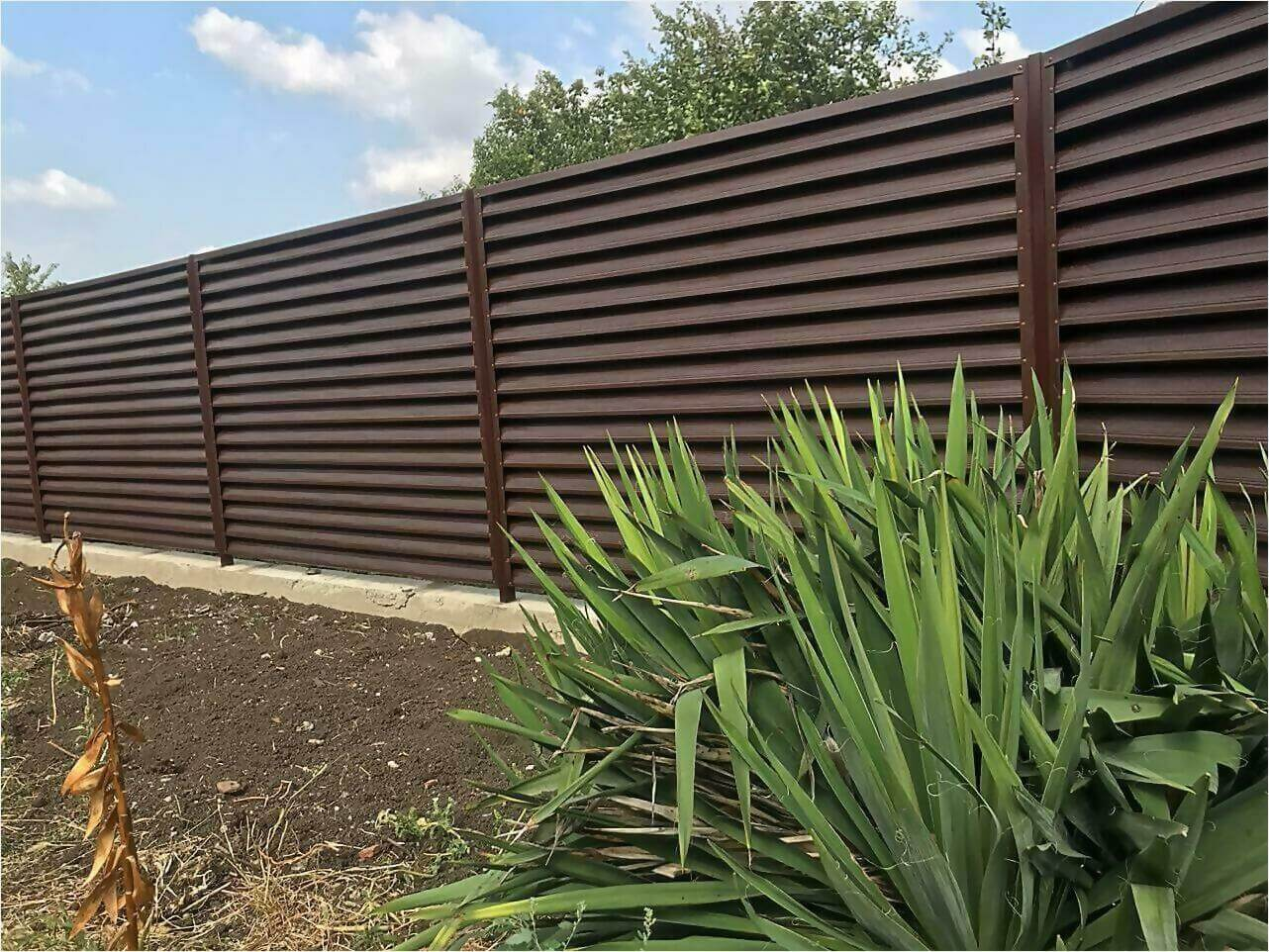 забор жалюзи мореный дуб фото5