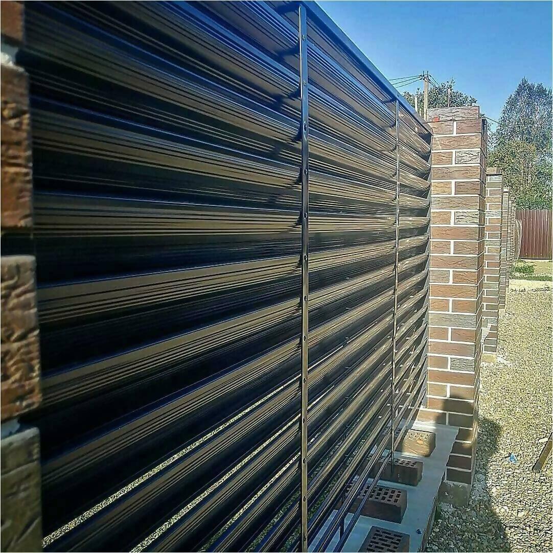 забор жалюзи серый графит фото1