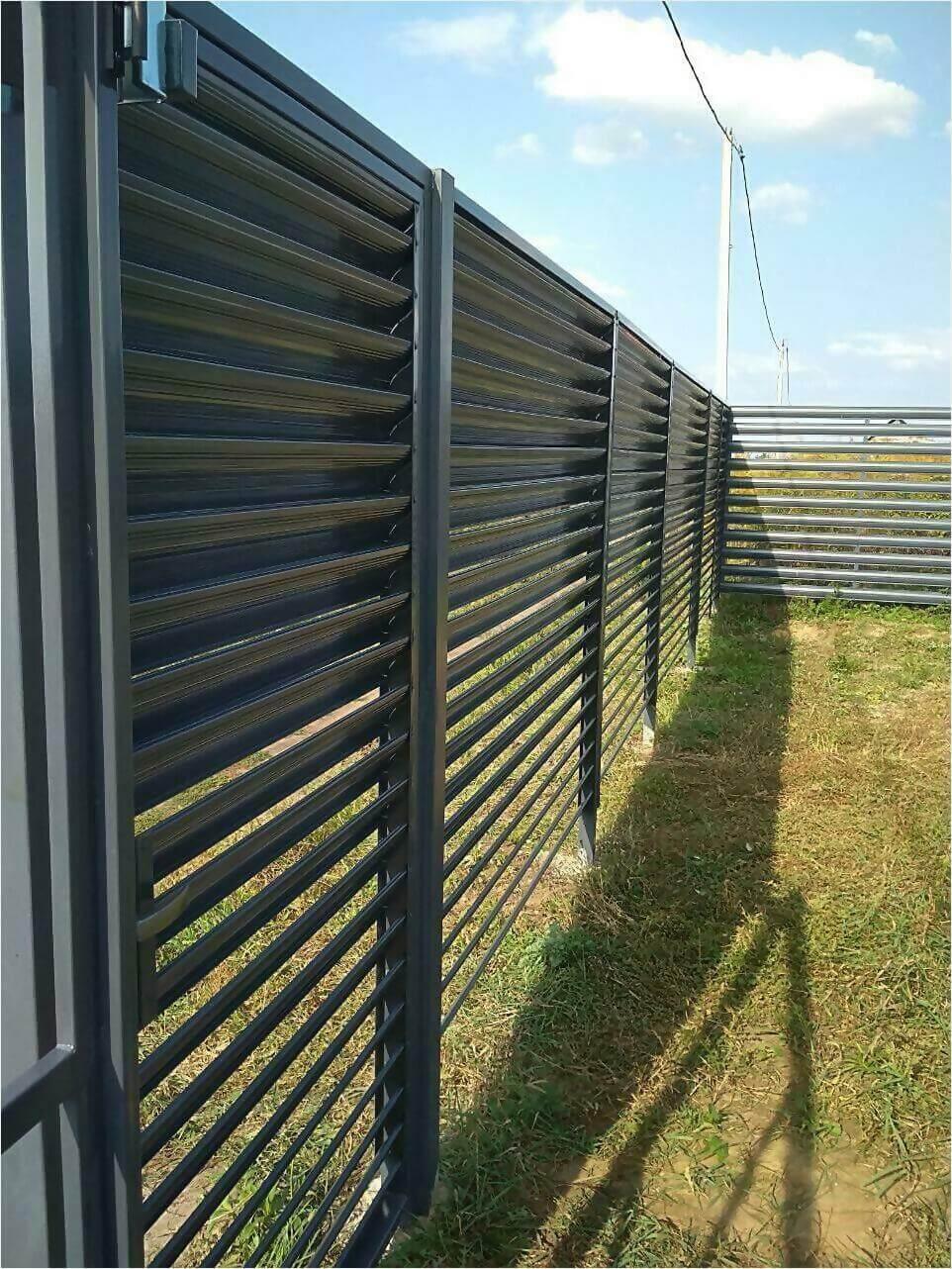 Забор-жалюзи серый графит фото2