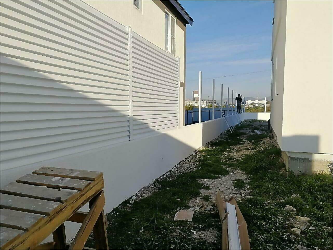 Забор-жалюзи белый фото4