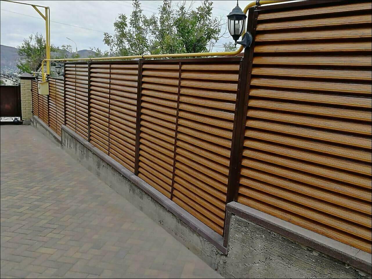 забор жалюзи золотое дерево фото2