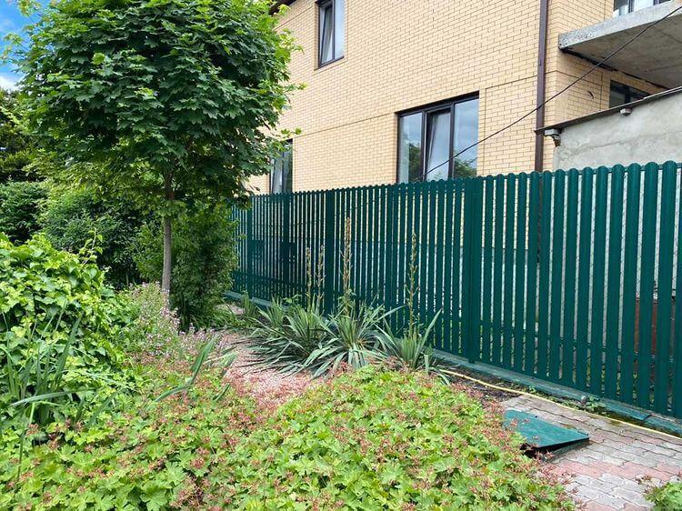 Забор из штакетника 60м Зеленый Мох фото1