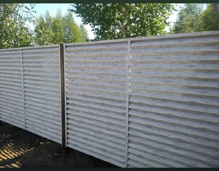 Забор-жалюзи 75м Беленый дуб фото1