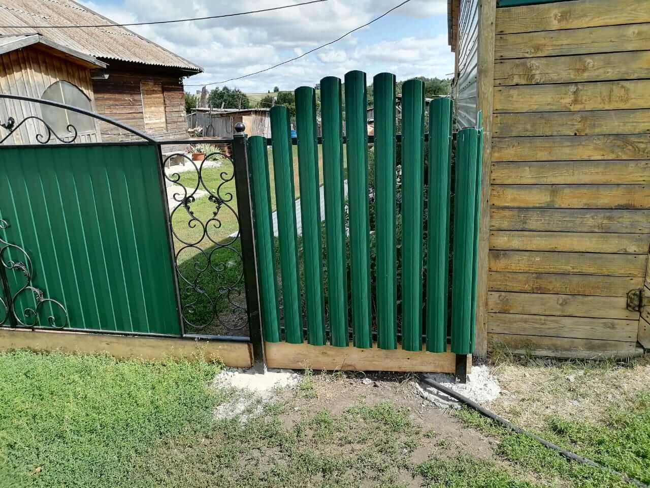 забор из штакетника Зеленый Мох фото6