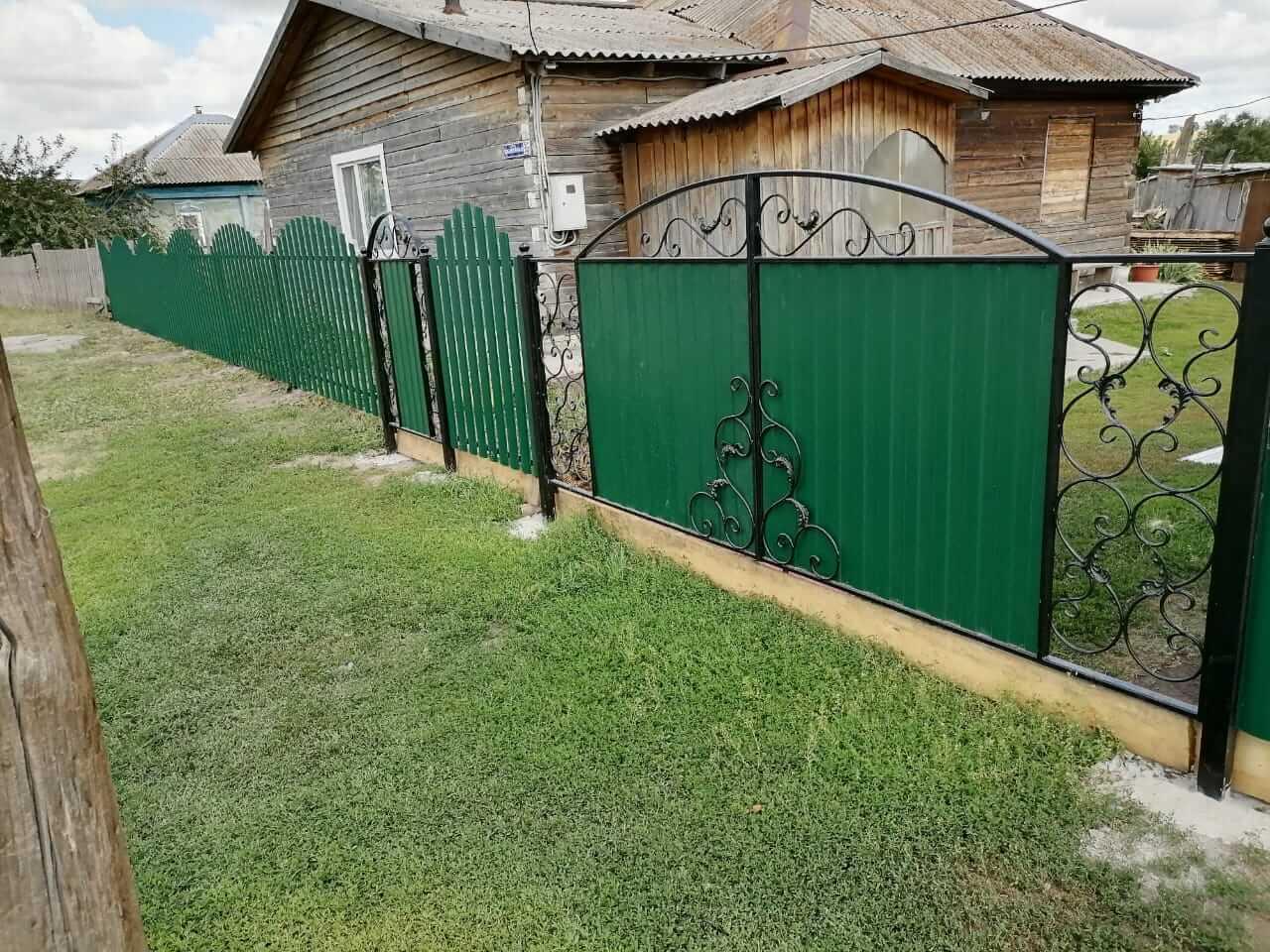 забор из штакетника Зеленый Мох фото5