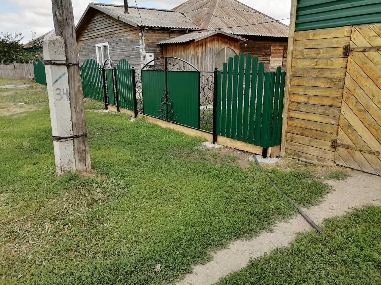 забор из штакетника Зеленый Мох фото2