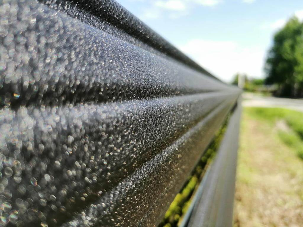 забор из штакетника Черный Стальной Бархат фото8