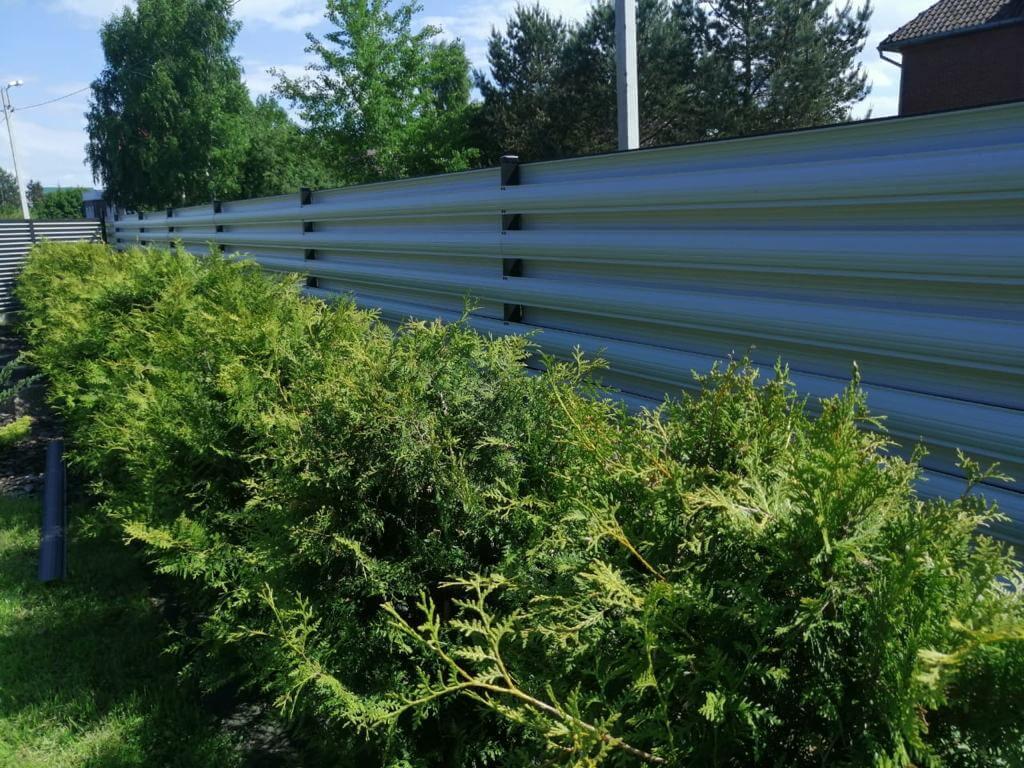 забор из штакетника Черный Стальной Бархат фото6