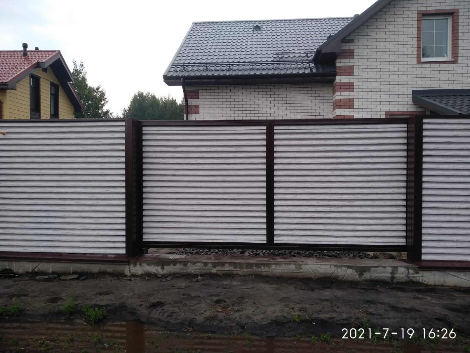 забор-жалюзи Беленый Дуб фото2