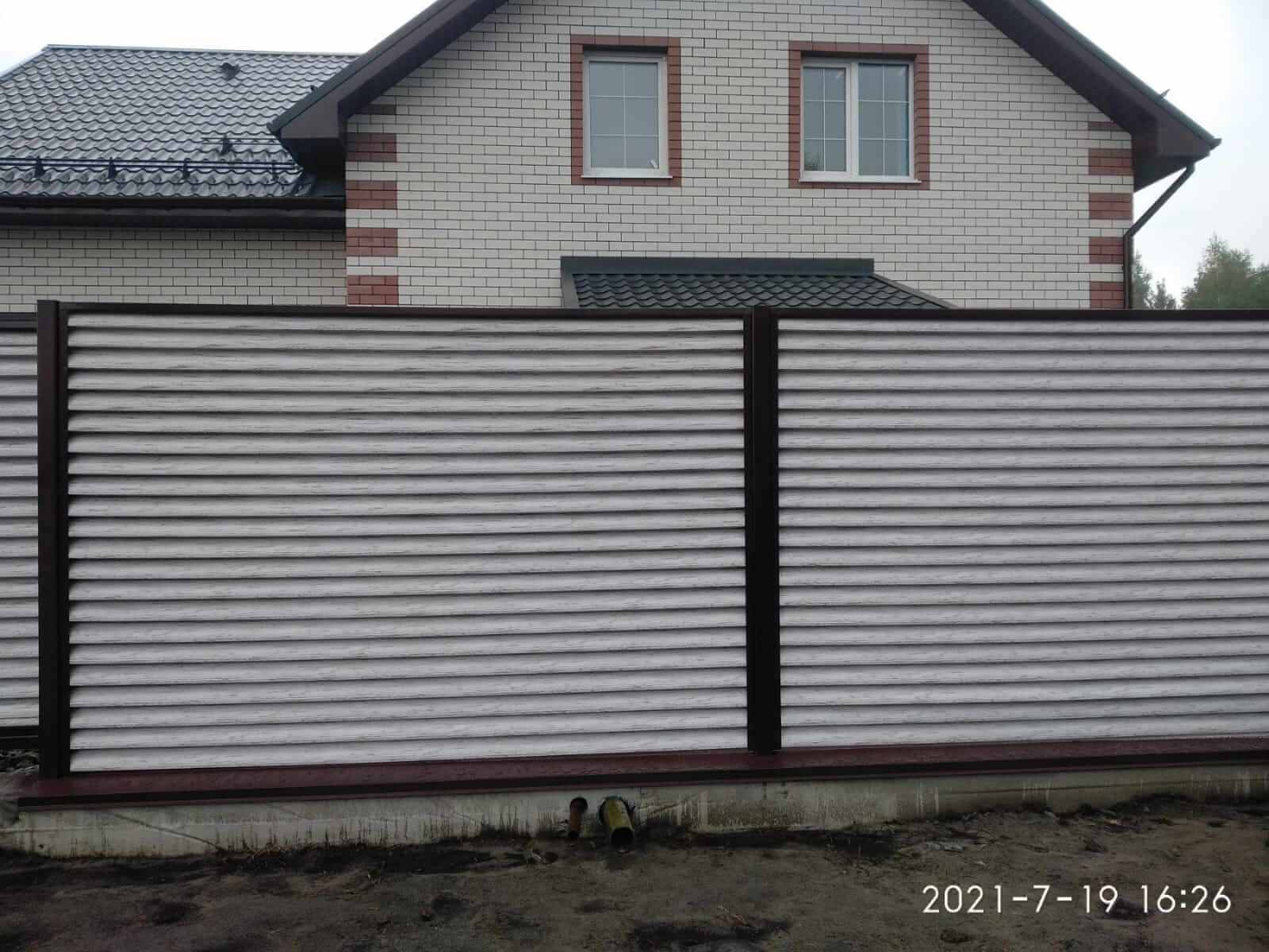 забор-жалюзи Беленый Дуб фото1