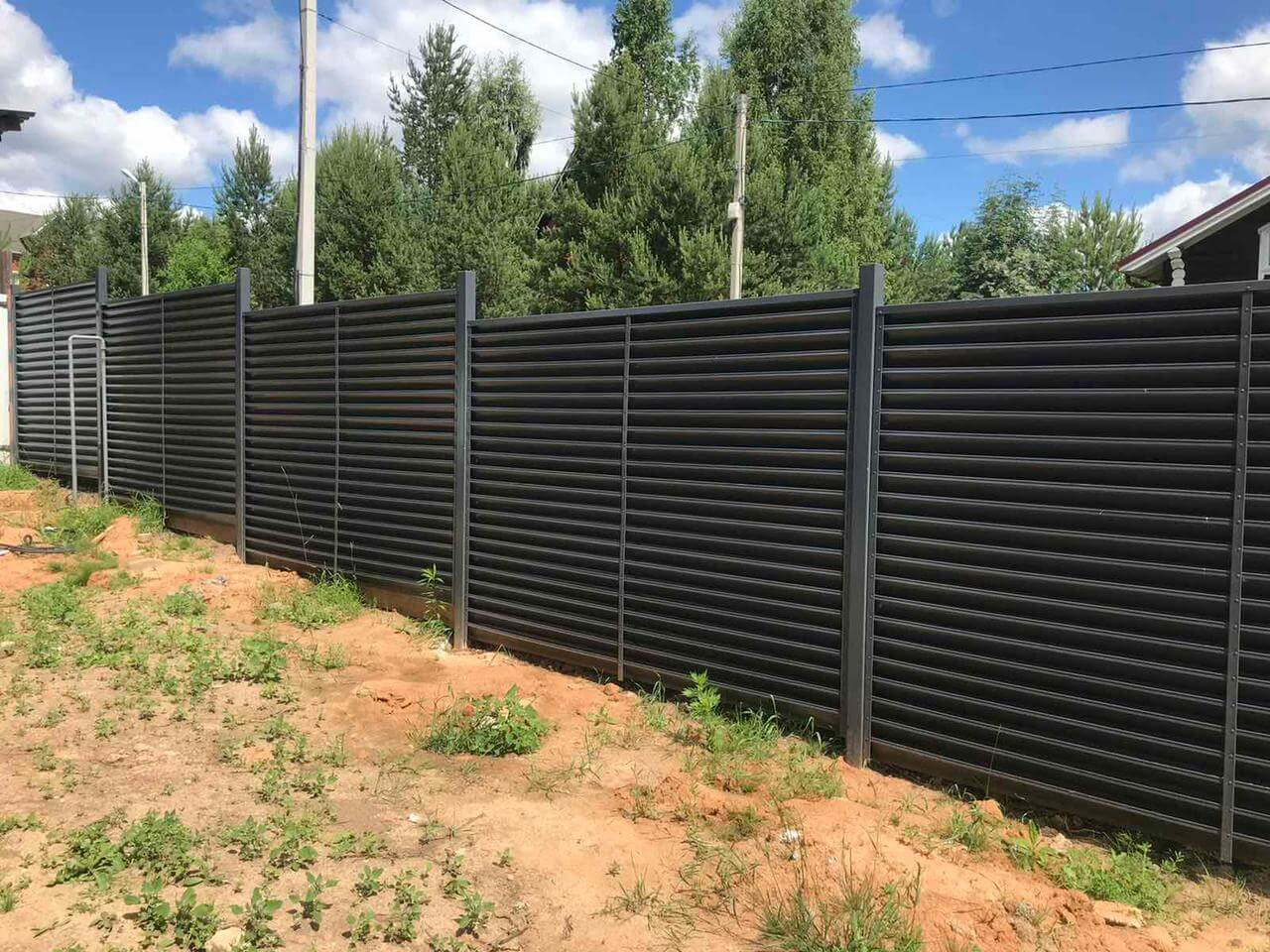 забор-жалюзи ЭКО-Z серый графит фото3