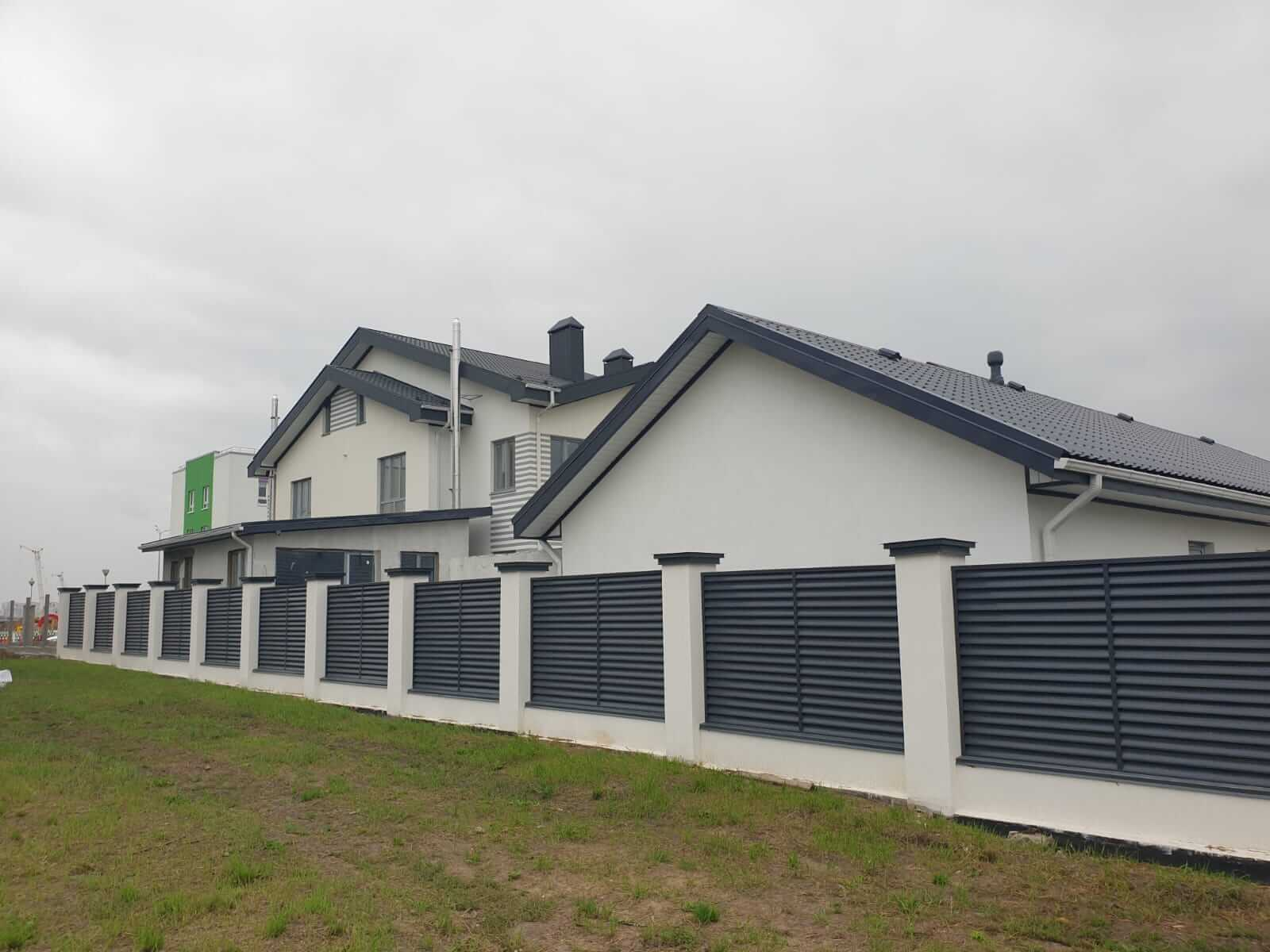 забор-жалюзи серый графит фото8