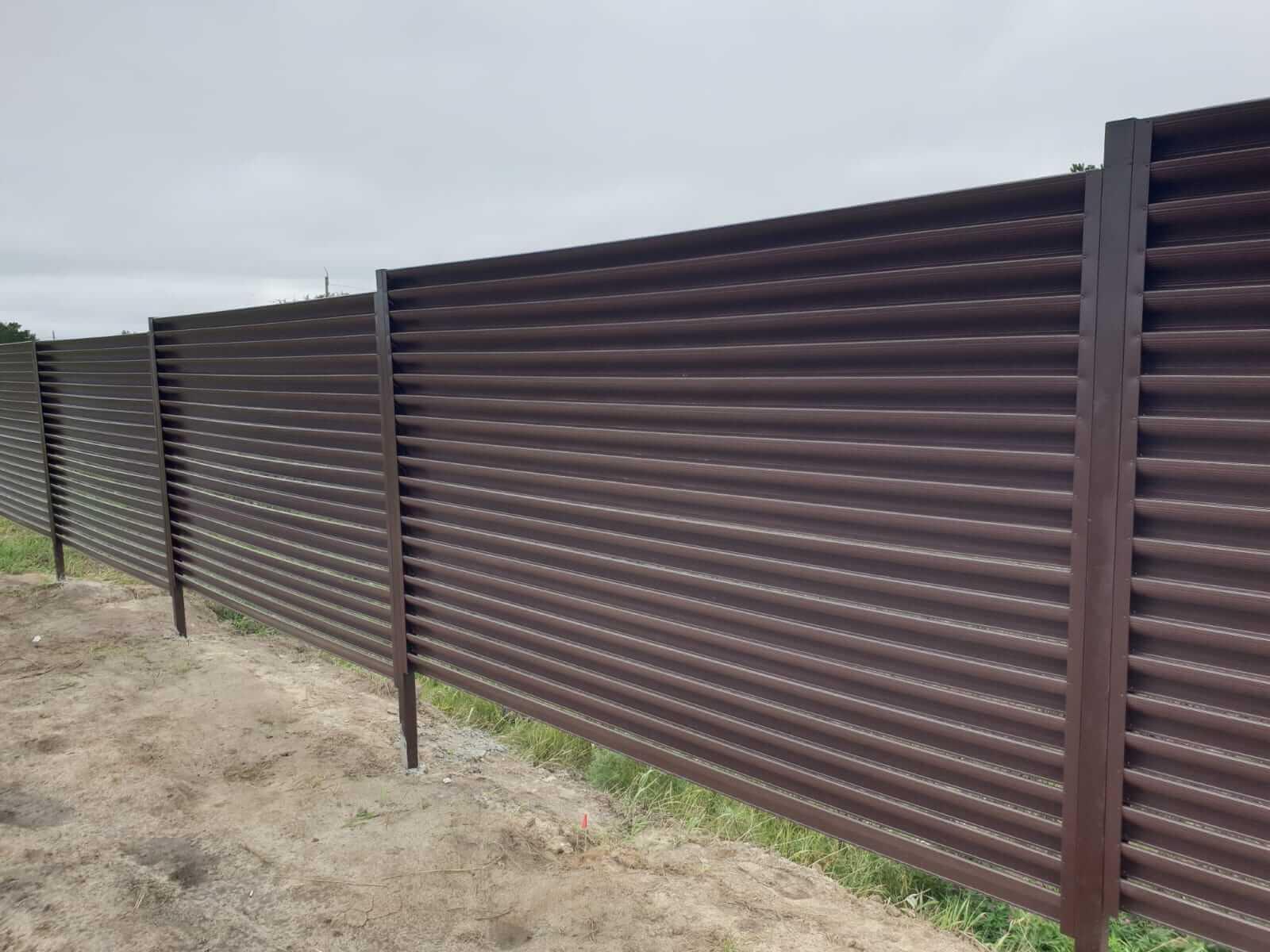 забор-жалюзи шоколад фото5