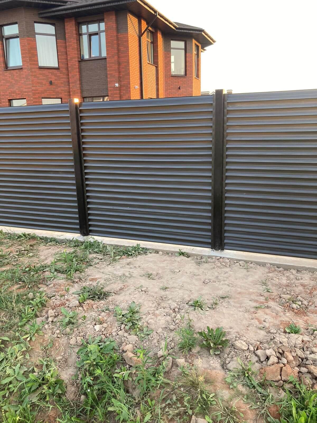 забор-жалюзи темный шоколад фото2