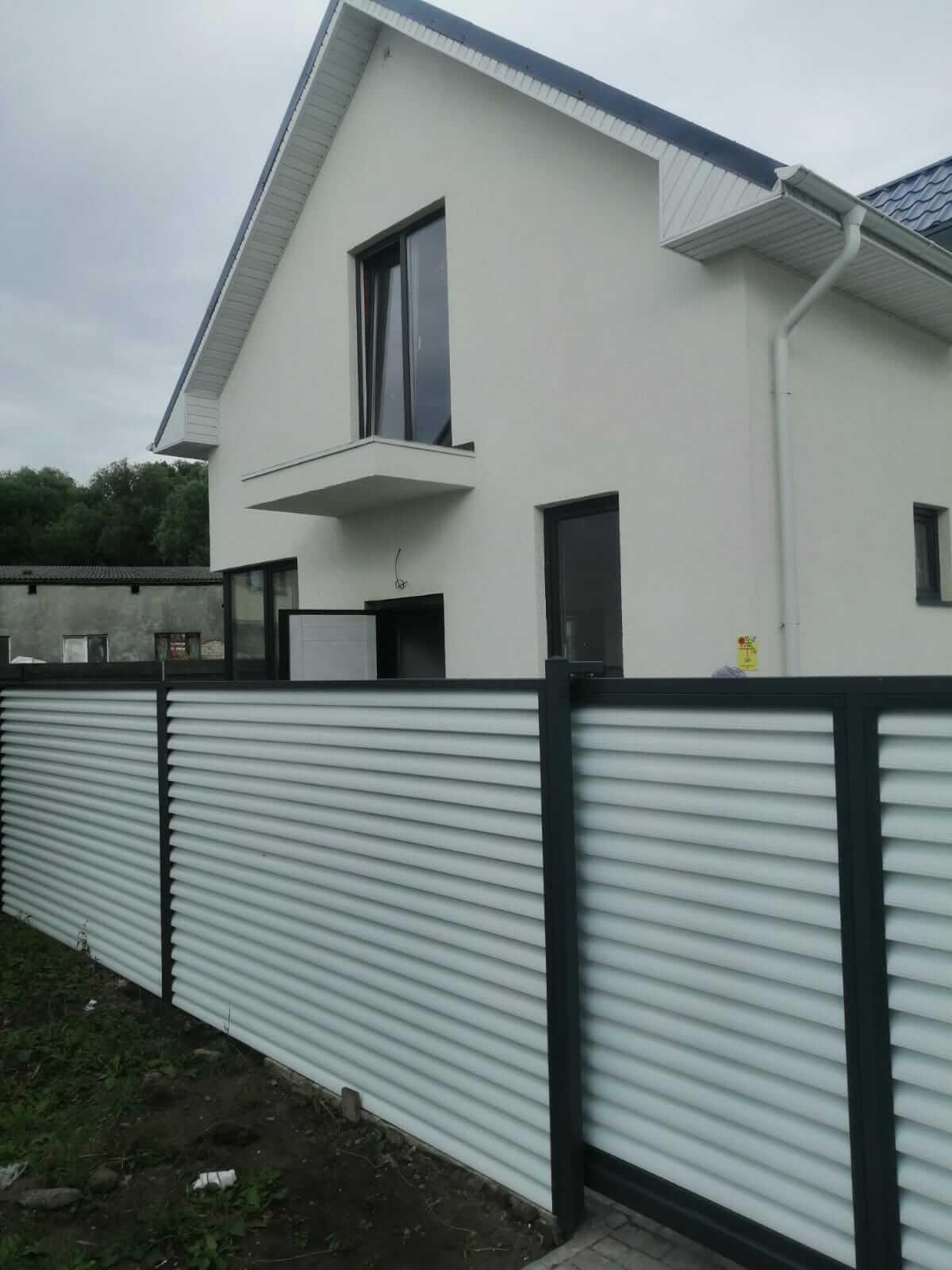 забор-жалюзи белый двухсторонний фото2