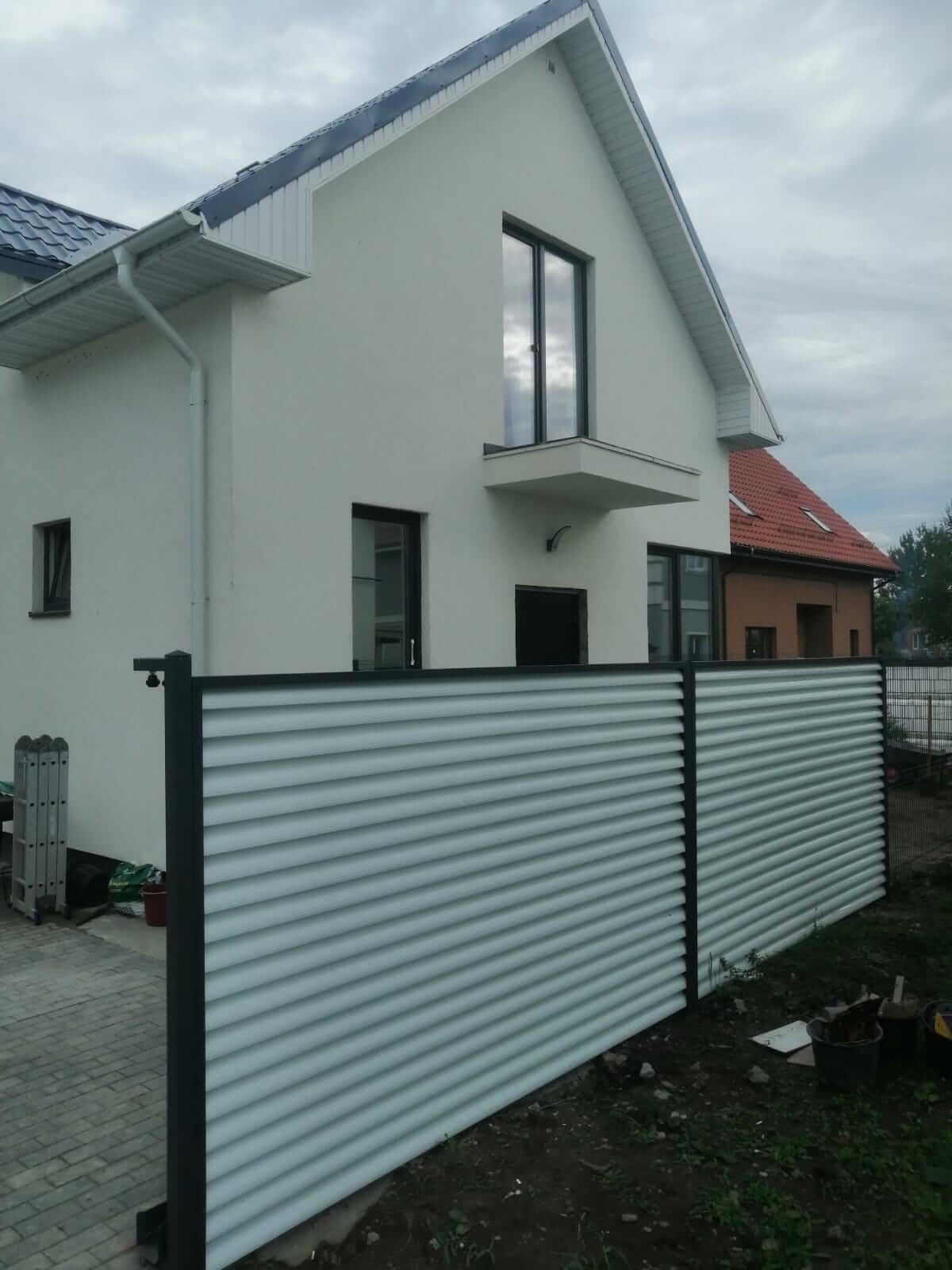 забор-жалюзи белый двухсторонний фото9