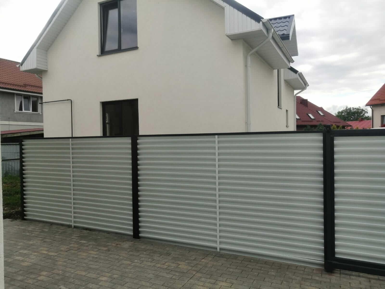 забор-жалюзи белый двухсторонний фото8