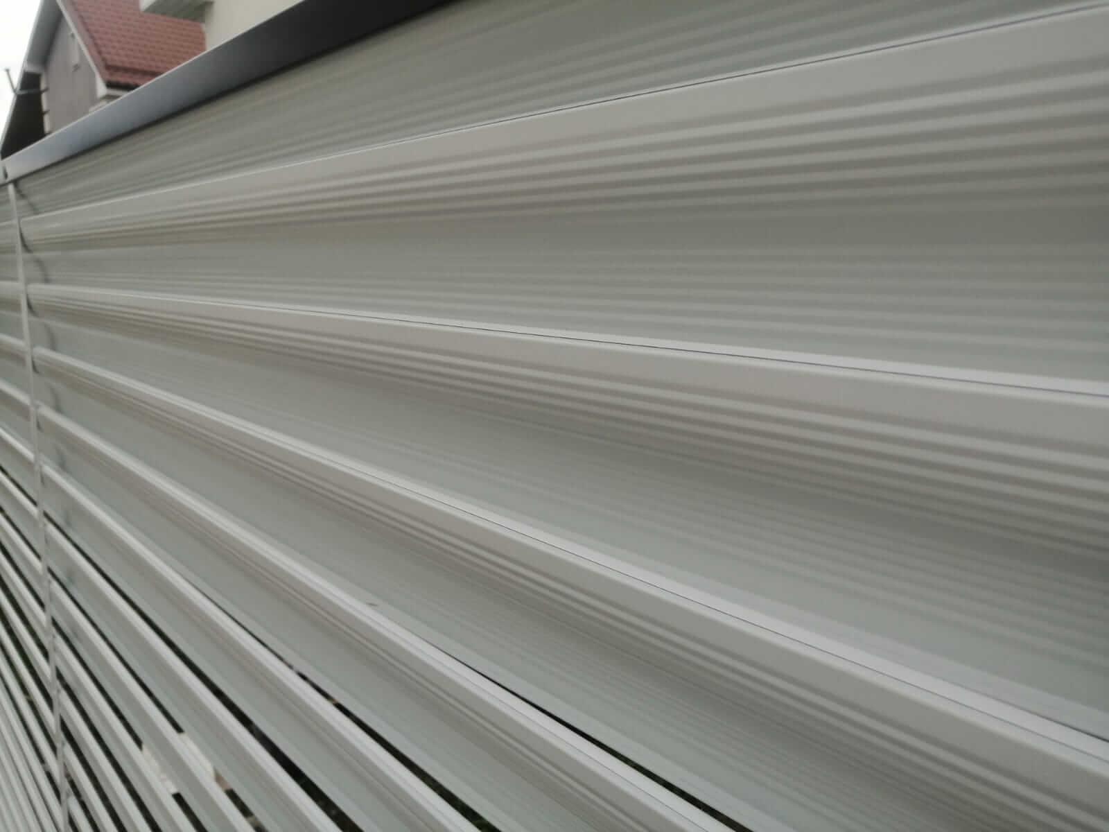 забор-жалюзи белый двухсторонний фото7