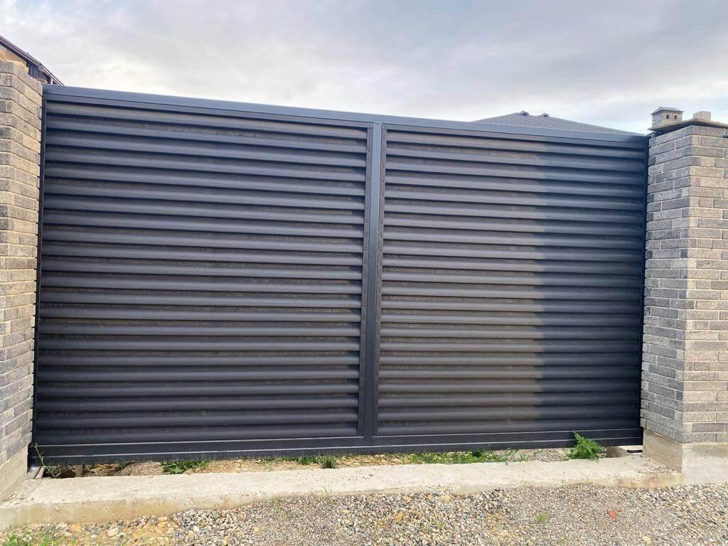 забор-жалюзи Черный Стальной Бархат фото9