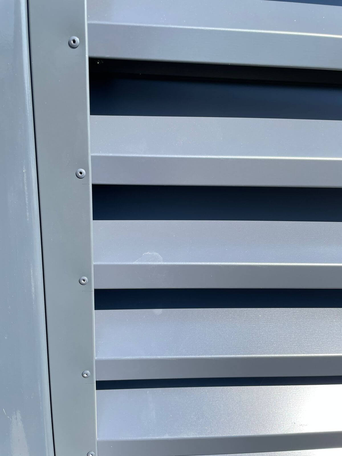 забор-жалюзи с ламелями эко-z ral7024/7024 серый графит двухсторонний фото5