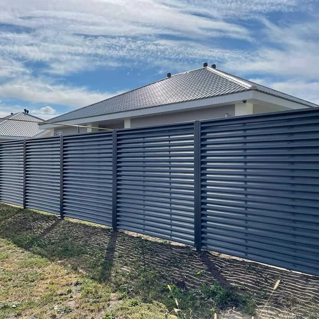забор-жалюзи серый графит фото9