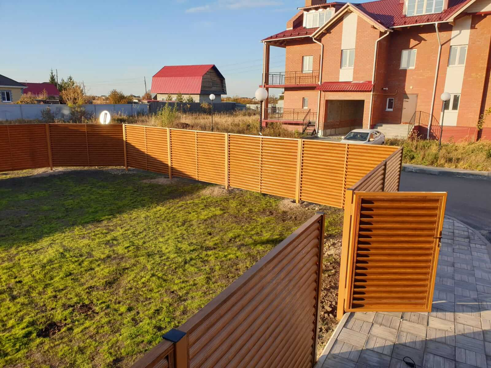 Забор-жалюзи 90м Орех фото10