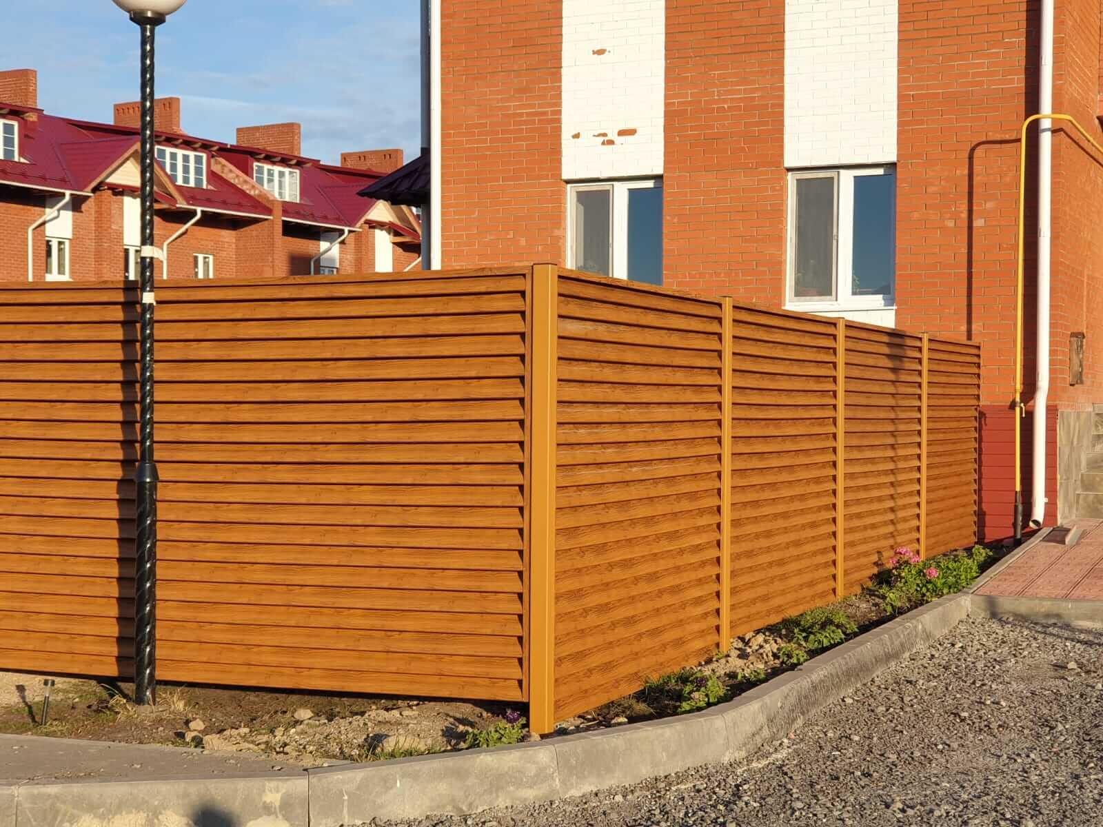 Забор-жалюзи 90м Орех фото11